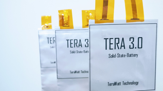 TeraWatt Technology solid-state battery prototype tests