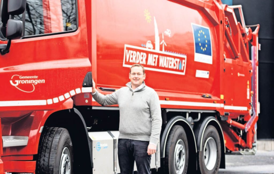 Dutch-Belgian truck company orders five Proton HyRange hydrogen fuel-cell systems for refuse trucks; EU project REVIVE