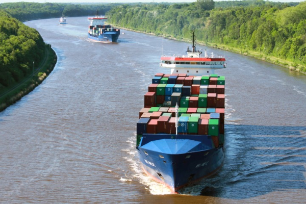 photo of Container ship to test running on Synthetic Natural Gas, provided by Audi image