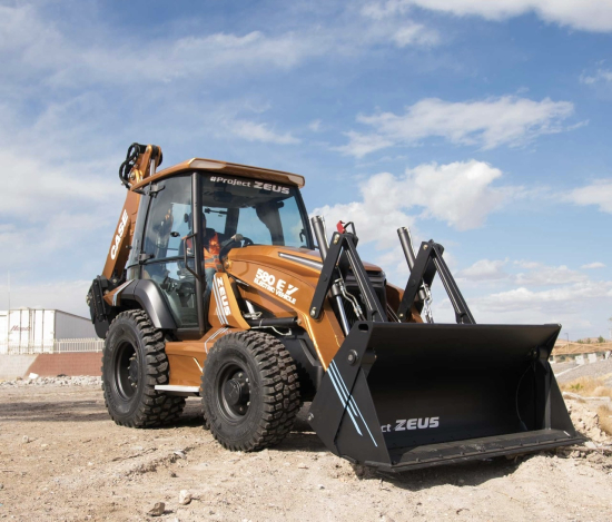 Case Unveils First Fully Electric Backhoe Loader The 580 Ev Green Car Congress