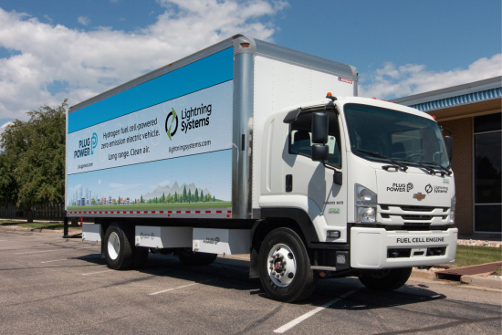 Electric Fuel Cell-Powered Class 6 Truck