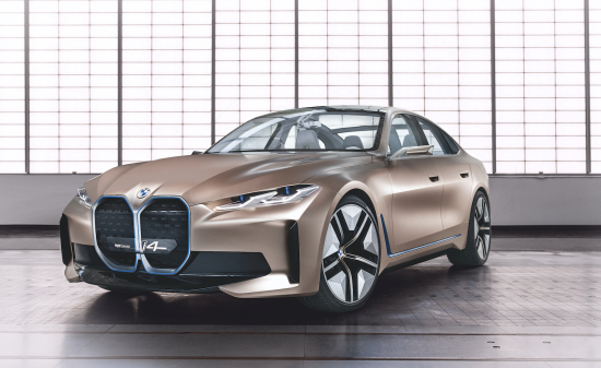 Bmw Unveils Concept I4 Electric Gran Coupe 600 Km Range Green