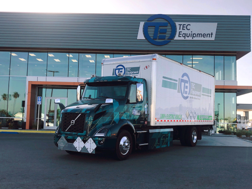First pilot Volvo VNR Electric deployed for parts distribution at TEC Fontana dealership