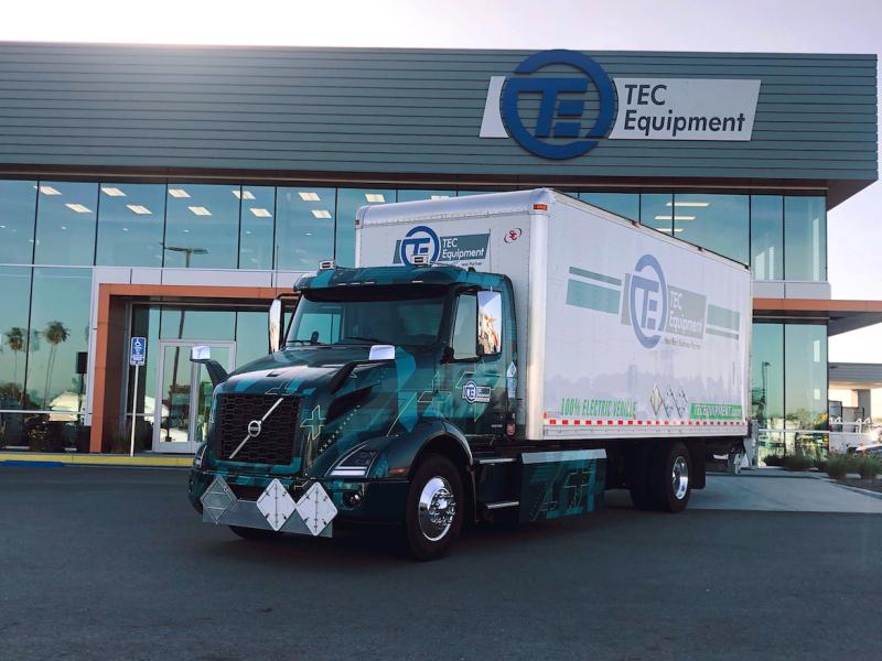 First pilot Volvo VNR Electric deployed for parts distribution at TEC Fontana dealership
