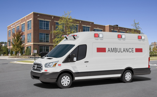 Rendering of Lightning Electric ambulance