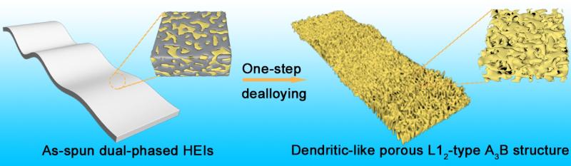 Schematic diagram HEI dendritic structure