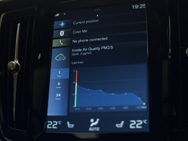 photo of Volvo Cars introduces new in-car Advanced Air Cleaner technology; measures PM2.5 inside cabin image