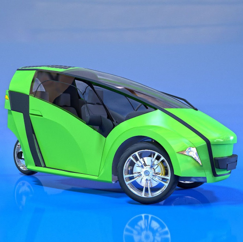 G-TRICYCLE PANEL GREEN 01