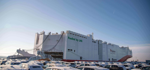 Siem Aristotle joins sister ship as the world's two largest LNG-powered car carriers