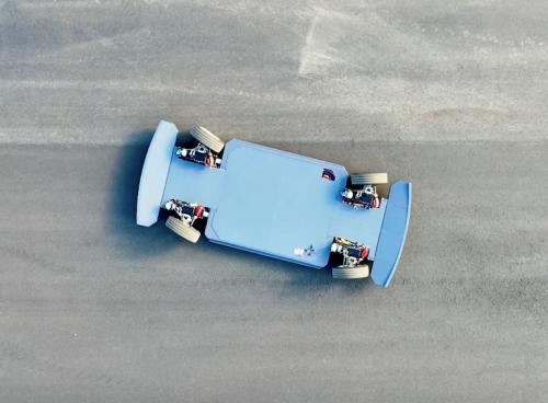 Aerial shot of REE platform