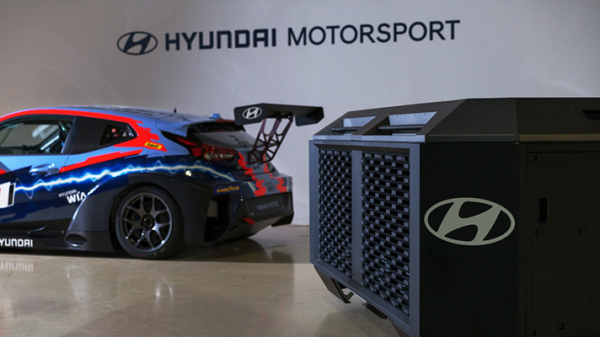 Hyundai HTWO supplying fuel cell generator to ETCR racing for EV charging