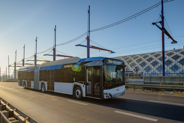 photo of City of Szczecin buying 8 Solaris Urbino 18 articulated electric buses image