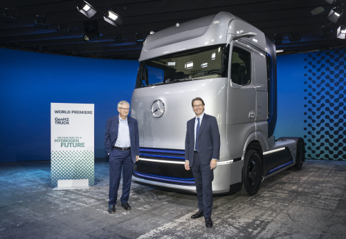 Daimler Trucks unveils Mercedes-Benz fuel-cell concept truck, previews  long-haul battery-electric truck; electrification strategy - Green Car  Congress