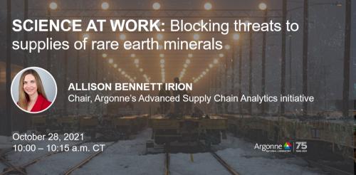 Argonne Lab hosting webinar on blocking threats to rare earth supplies using supercomputers